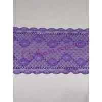 Кружево эластичное фиолетового цвета