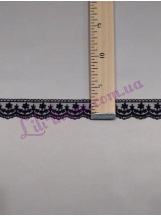 Кружево вышивка на сетке черного цвета