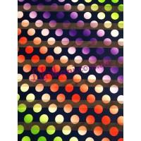 Органза в разноцветный горошек
