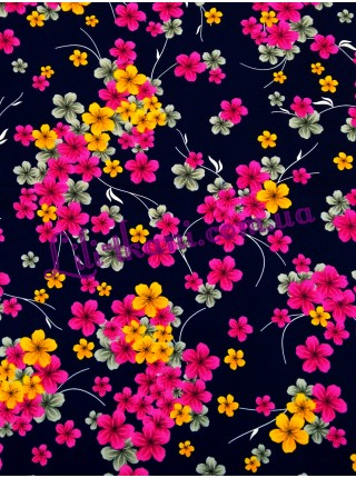 "Шифон ""Яркие цветы"""