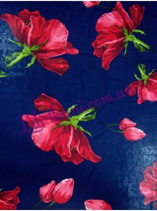 Шифон в красные цветы