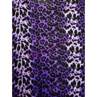 Шифон фиолетовый леопард